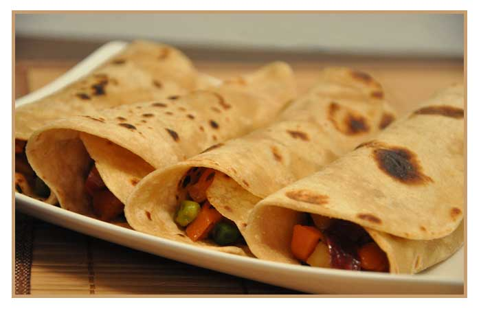 Cheesy Chapati Roll Recipe